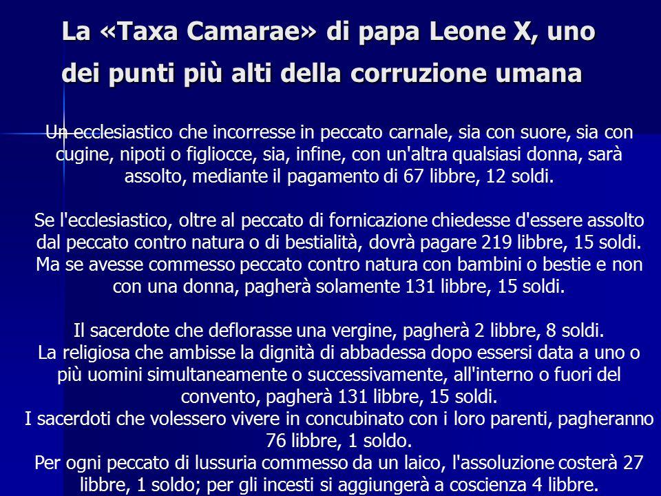 Leone X Figlio di Lorenzo il Magnifico Figlio di Lorenzo il Magnifico Cardinale a 13 anni Cardinale a 13 anni Famoso per il tariffario delle indulgenze Famoso per il tariffario delle indulgenze Apogeo del Rinascimento Apogeo del Rinascimento
