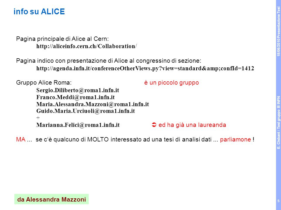 18/06/2010 Presentazione Tesi E.