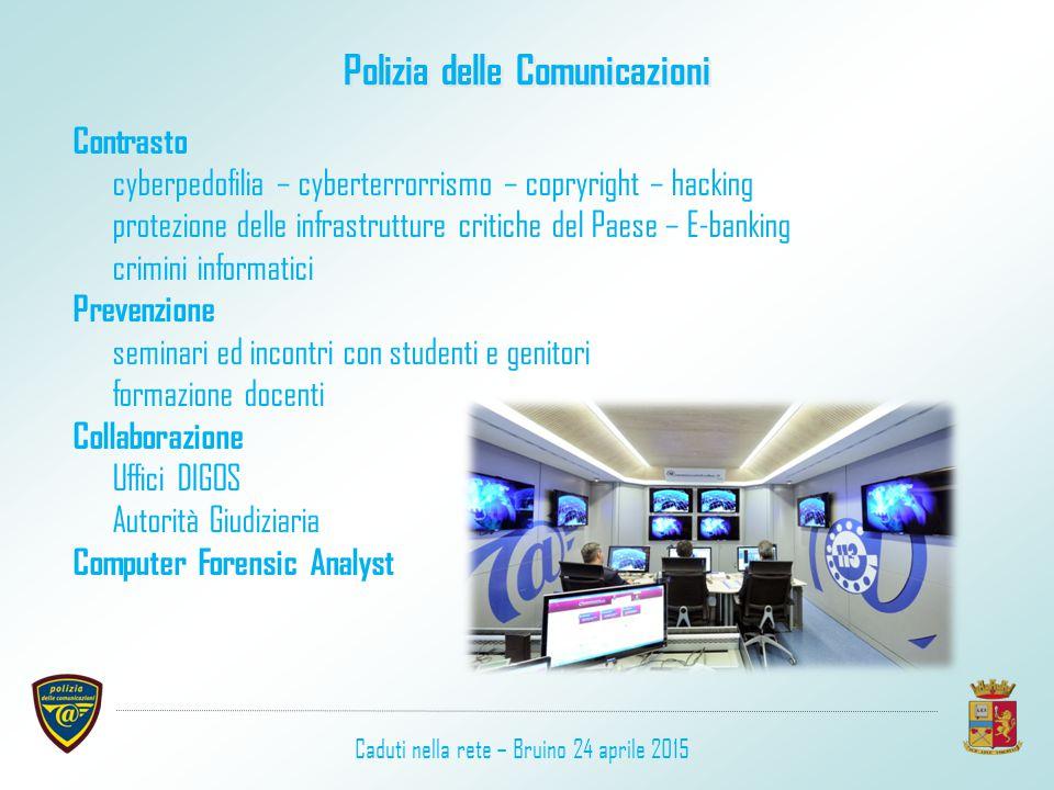 Polizia delle Comunicazioni Contrasto cyberpedofilia – cyberterrorrismo – copryright – hacking protezione delle infrastrutture critiche del Paese – E-