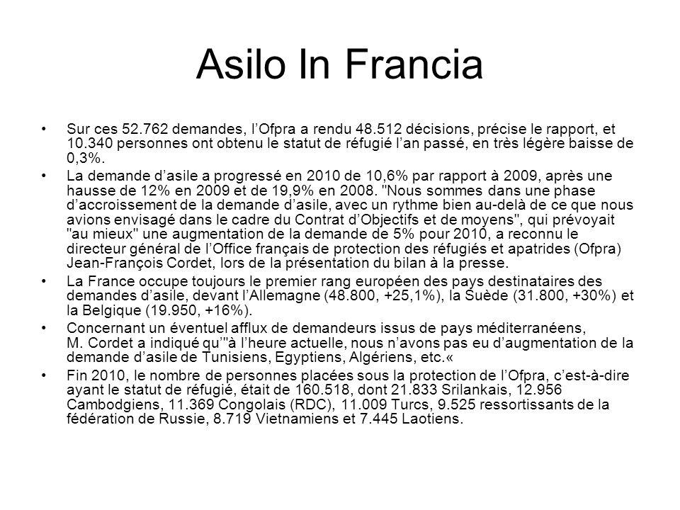 Asilo In Francia Sur ces 52.762 demandes, l'Ofpra a rendu 48.512 décisions, précise le rapport, et 10.340 personnes ont obtenu le statut de réfugié l'an passé, en très légère baisse de 0,3%.