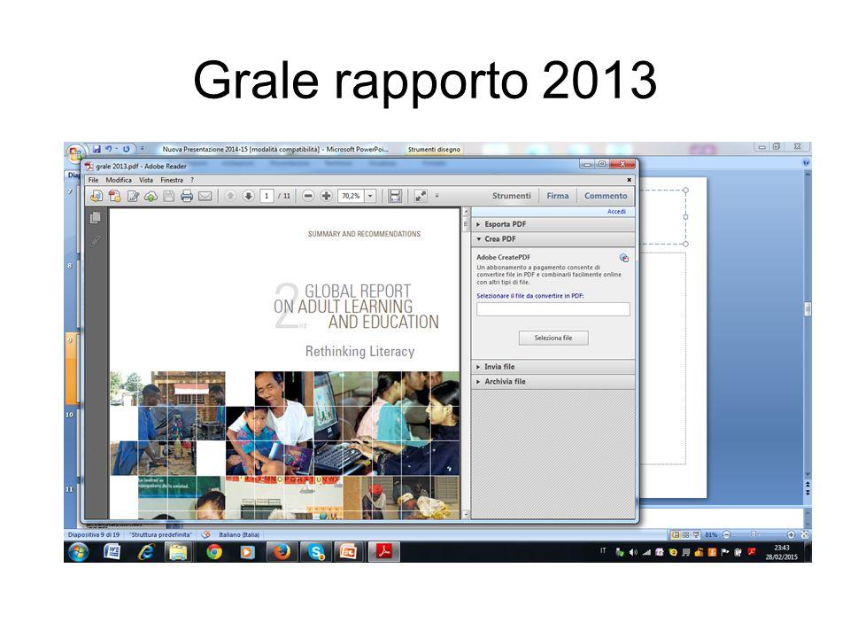 Grale rapporto 2013