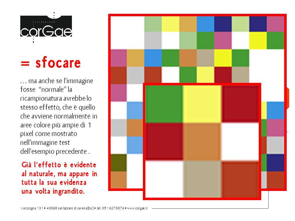 """= sfocare … ma anche se l'immagine fosse """"normale"""" la ricampionatura avrebbe lo stesso effetto, che è quello che avviene normalmente in aree colore pi"""