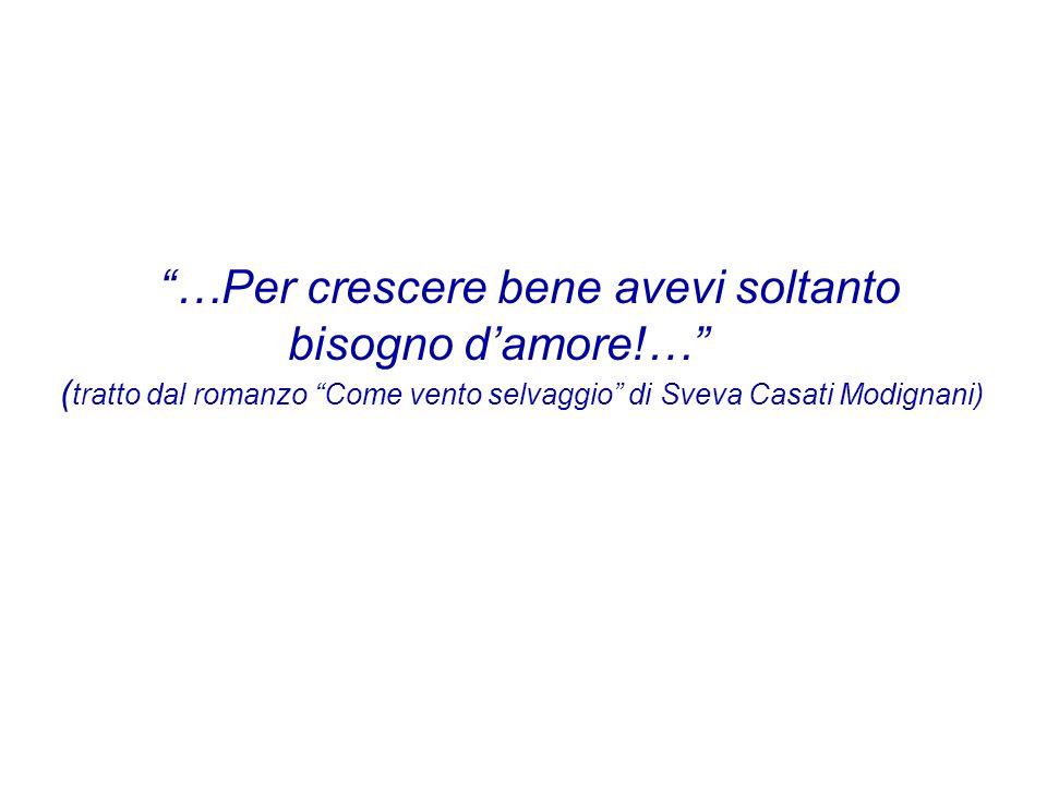 """""""…Per crescere bene avevi soltanto bisogno d'amore!…"""" ( tratto dal romanzo """"Come vento selvaggio"""" di Sveva Casati Modignani)"""