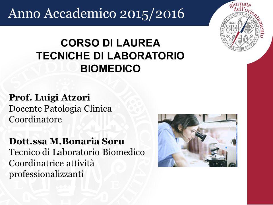 Prof. Luigi Atzori Docente Patologia Clinica Coordinatore Dott.ssa M.Bonaria Soru Tecnico di Laboratorio Biomedico Coordinatrice attività professional