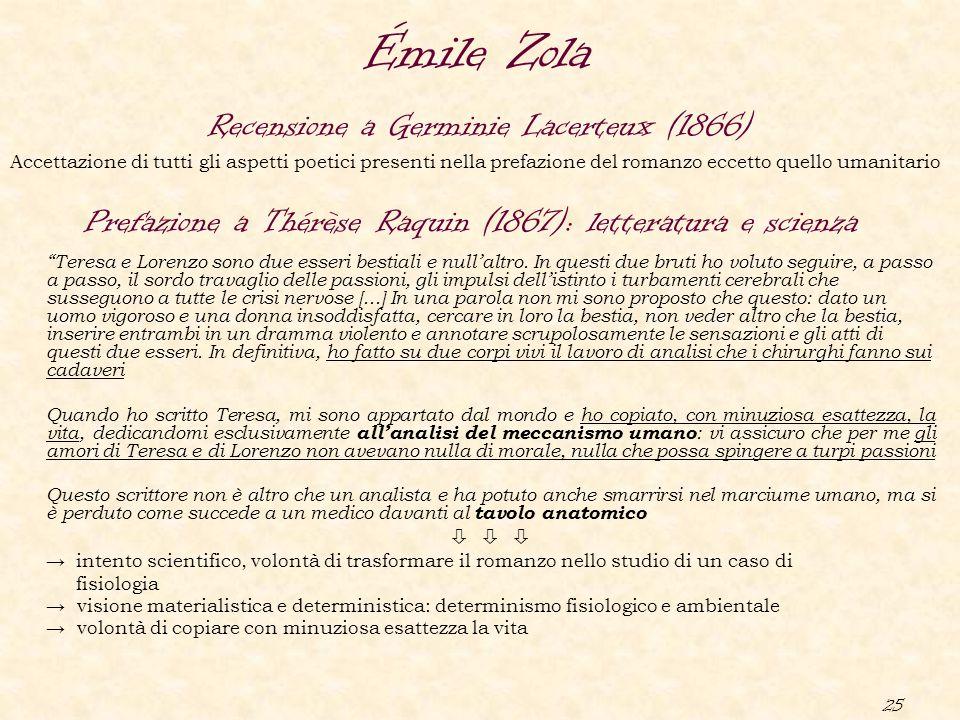 """25 Prefazione a Thérèse Raquin (1867): letteratura e scienza """"Teresa e Lorenzo sono due esseri bestiali e null'altro. In questi due bruti ho voluto se"""