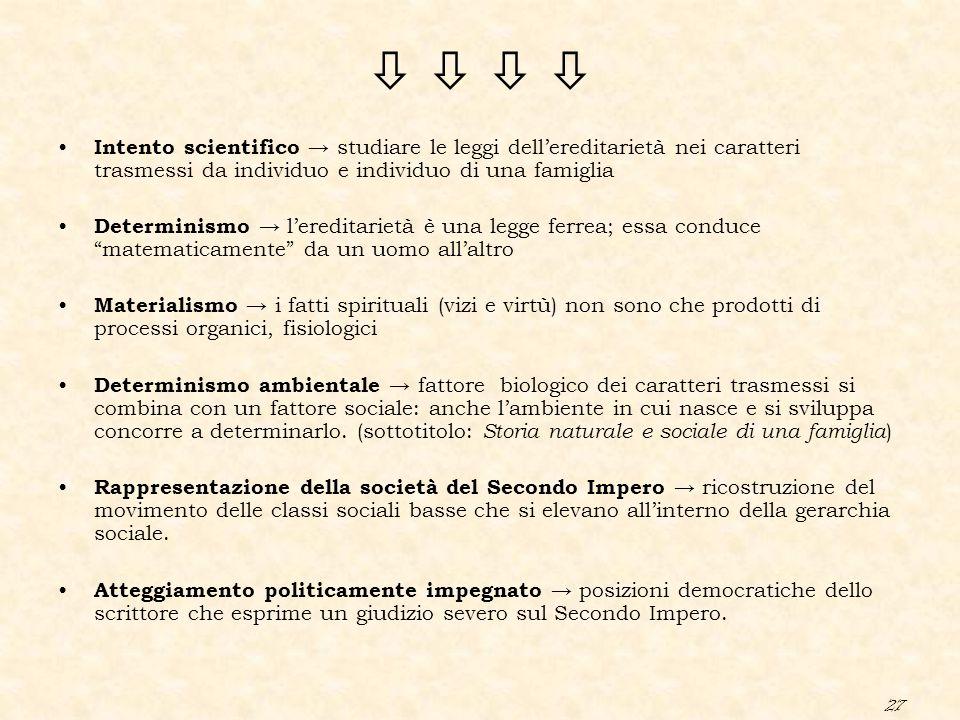27        Intento scientifico → studiare le leggi dell'ereditarietà nei caratteri trasmessi da individuo e individuo di una famiglia Determini