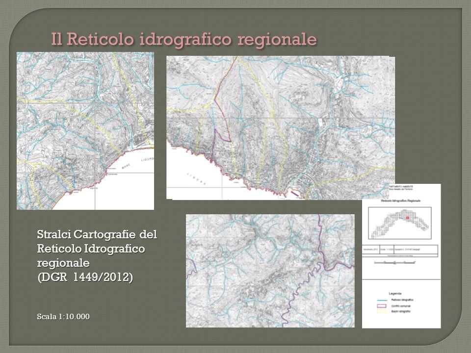 Il Reticolo idrografico regionale Stralci Cartografie del Reticolo Idrografico regionale (DGR 1449/2012) Scala 1:10.000