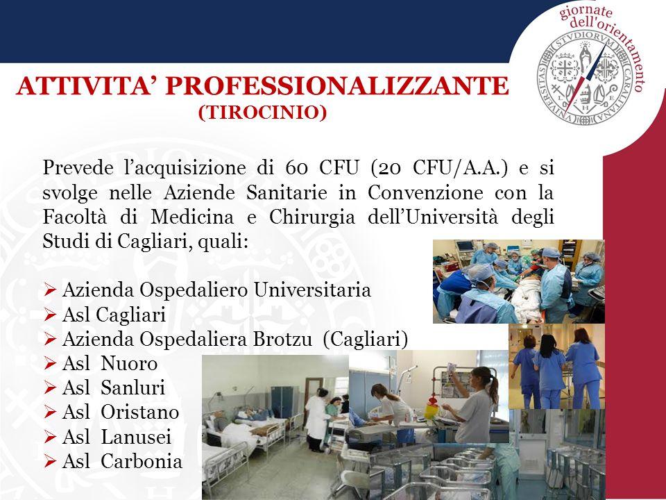 Prevede l'acquisizione di 60 CFU (20 CFU/A.A.) e si svolge nelle Aziende Sanitarie in Convenzione con la Facoltà di Medicina e Chirurgia dell'Universi