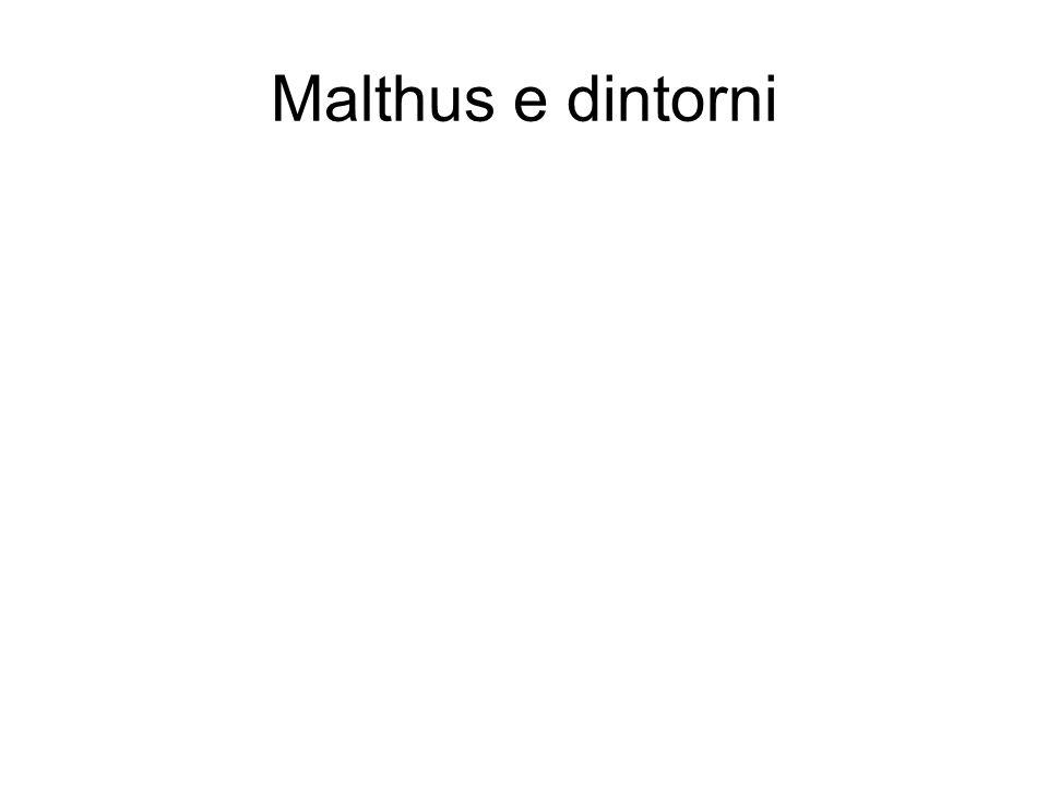Malthus e dintorni