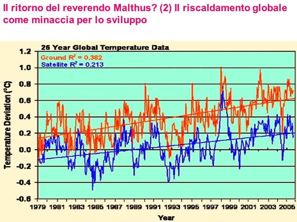 Il ritorno del reverendo Malthus? (2) Il riscaldamento globale come minaccia per lo sviluppo