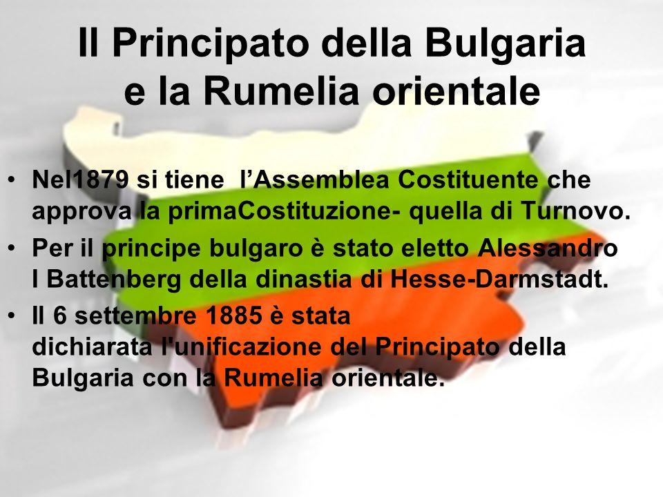 Nel1879 si tiene l'Assemblea Costituente che approva la primaCostituzione- quella di Turnovo. Per il principe bulgaro è stato eletto Alessandro I Batt