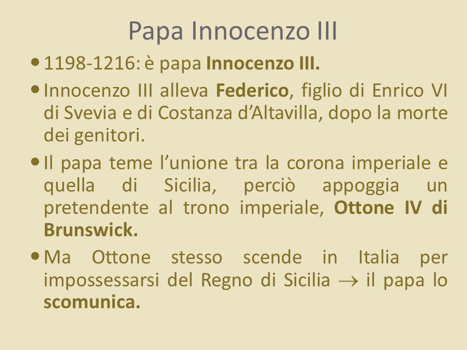 Papa Innocenzo III mostra la Bolla delle donazioni concesse al monastero di Subiaco (affresco del XIII sec.