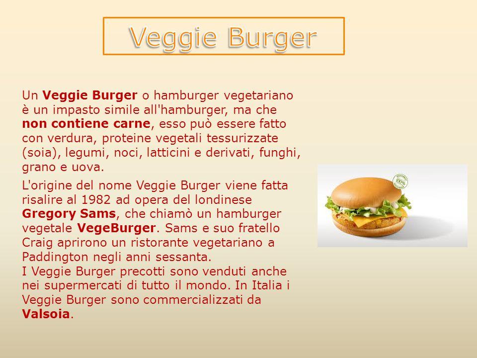 Un Veggie Burger o hamburger vegetariano è un impasto simile all'hamburger, ma che non contiene carne, esso può essere fatto con verdura, proteine veg