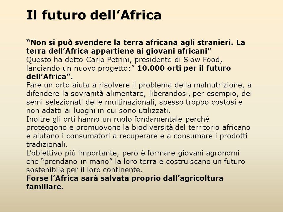 """Il futuro dell'Africa """"Non si può svendere la terra africana agli stranieri. La terra dell'Africa appartiene ai giovani africani"""" Questo ha detto Carl"""
