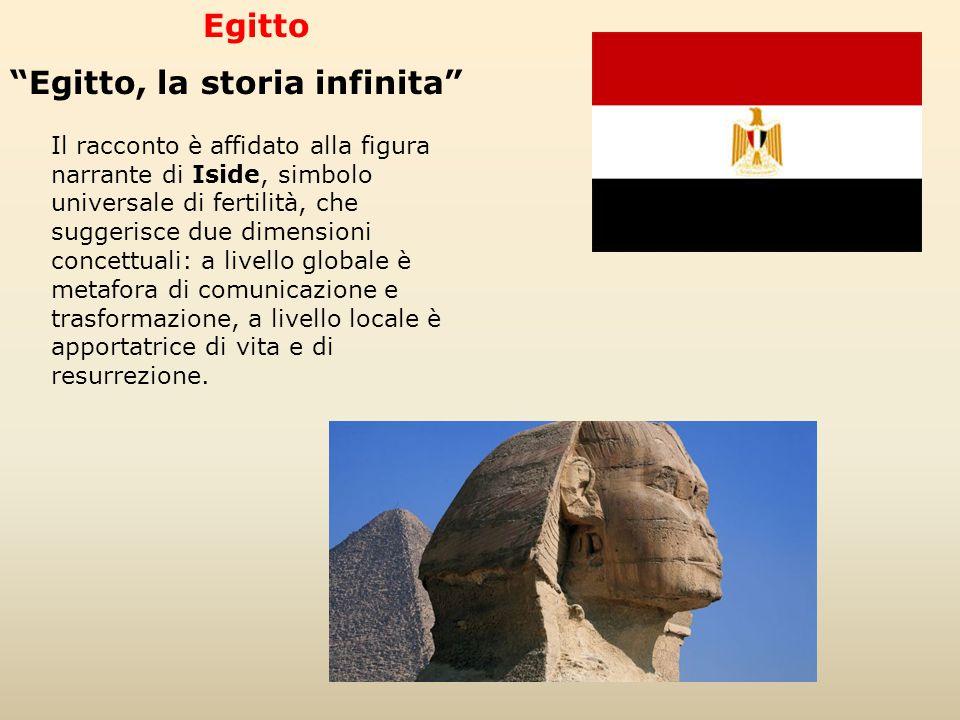 """Egitto """"Egitto, la storia infinita"""" Il racconto è affidato alla figura narrante di Iside, simbolo universale di fertilità, che suggerisce due dimensio"""