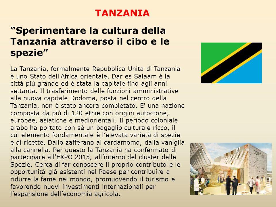 """""""Sperimentare la cultura della Tanzania attraverso il cibo e le spezie"""" La Tanzania, formalmente Repubblica Unita di Tanzania è uno Stato dell'Africa"""