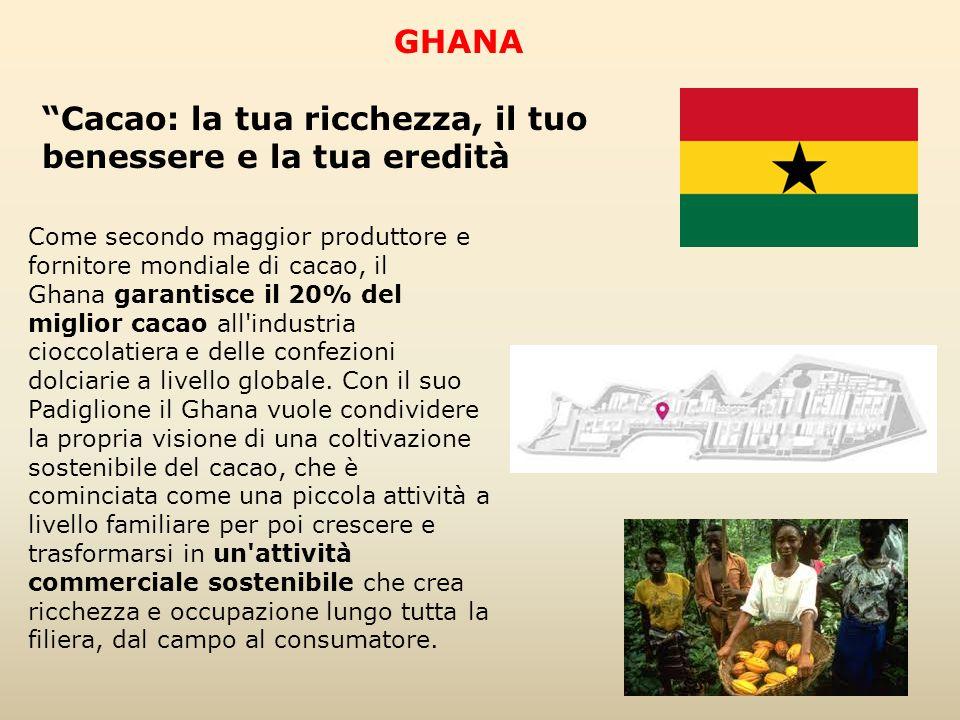 Come secondo maggior produttore e fornitore mondiale di cacao, il Ghana garantisce il 20% del miglior cacao all'industria cioccolatiera e delle confez
