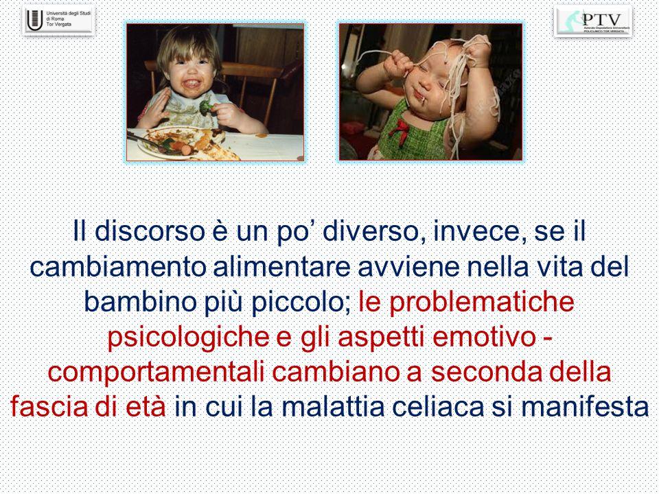 Il discorso è un po' diverso, invece, se il cambiamento alimentare avviene nella vita del bambino più piccolo; le problematiche psicologiche e gli asp