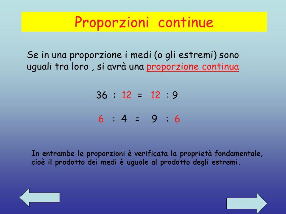 Proprietà del comporre : In una proporzione la somma del primo e del secondo termine sta al primo ( o al secondo), come la somma del terzo e del quart
