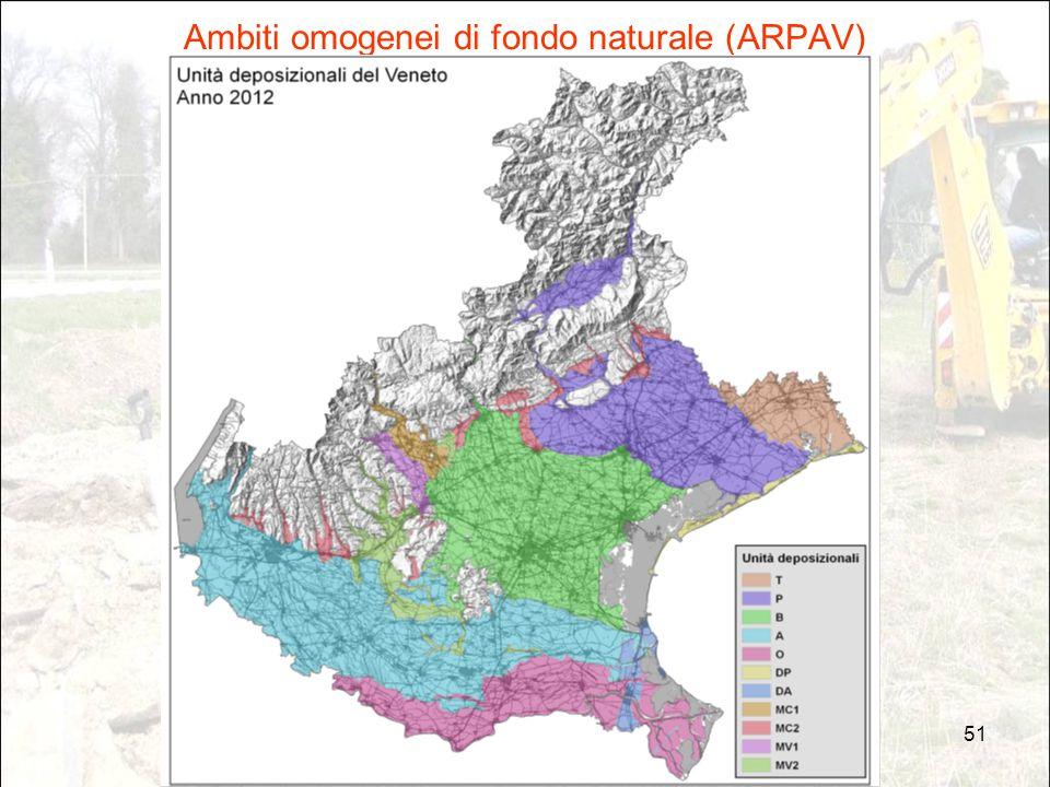 51 Ambiti omogenei di fondo naturale (ARPAV)