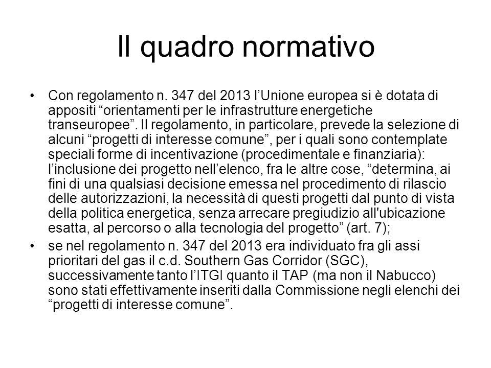 Il quadro normativo Con regolamento n.