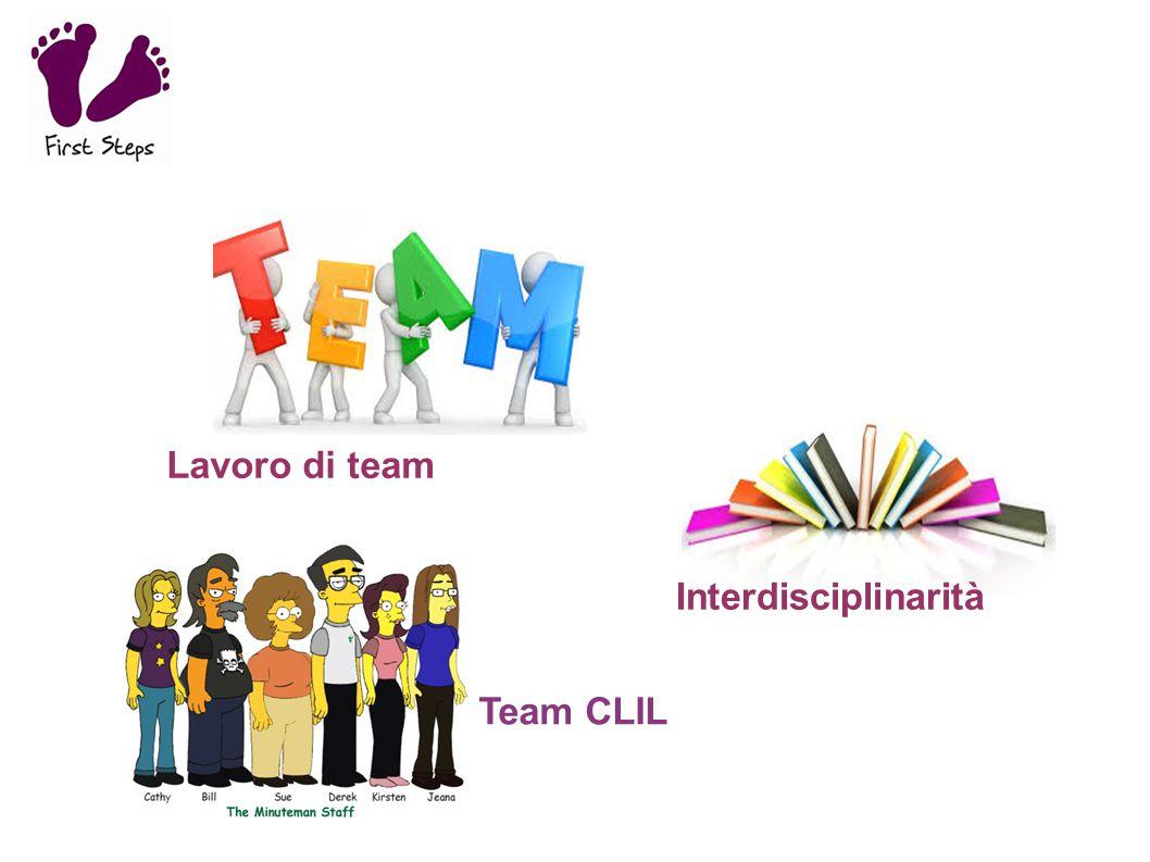 Lavoro di team Interdisciplinarità Team CLIL