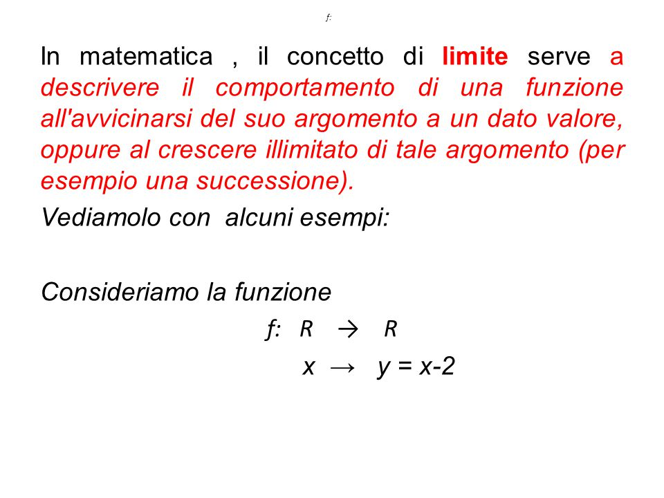 In matematica, il concetto di limite serve a descrivere il comportamento di una funzione all'avvicinarsi del suo argomento a un dato valore, oppure al