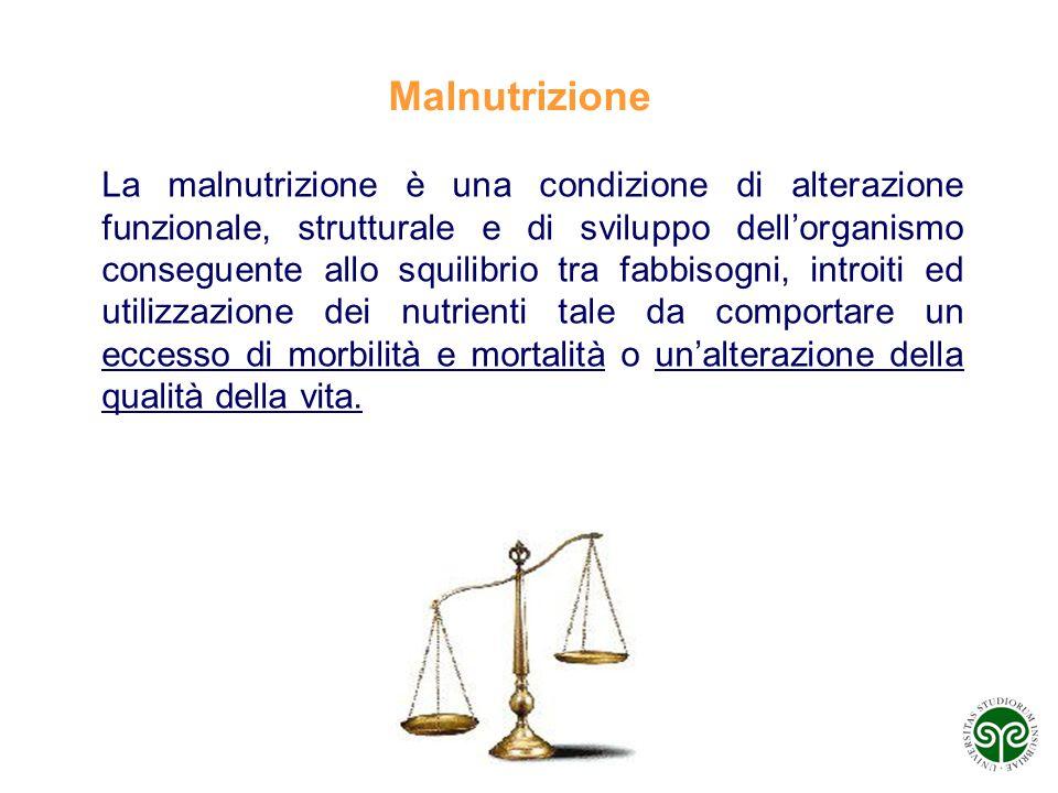 AT 61/71 La malnutrizione è una condizione di alterazione funzionale, strutturale e di sviluppo dell'organismo conseguente allo squilibrio tra fabbiso