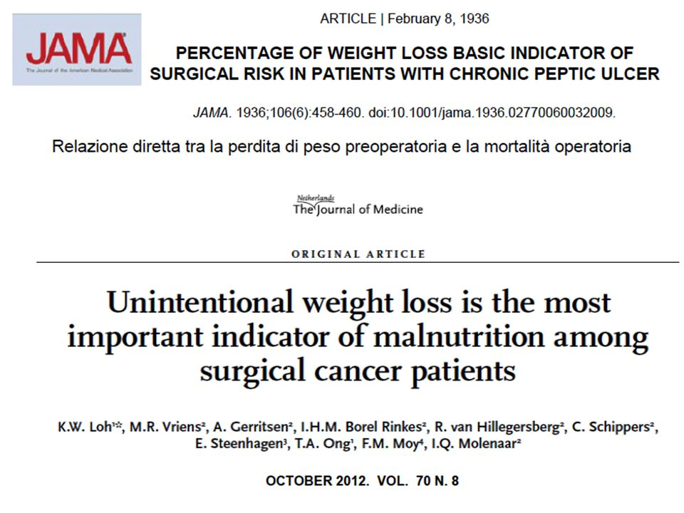 L'etica dello 'scheletro nell'armadio' *Butterworth CE Nutr Today 1974;9:4 The failure to survey the incidence and prevalence of protein calorie malnutrition and examine its relationship to the prognosis of various diseases cannot be consistent with good patient care