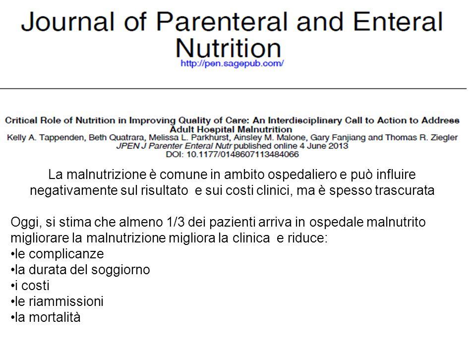 Buona pratica per la prevenzione del rischio nutrizionale