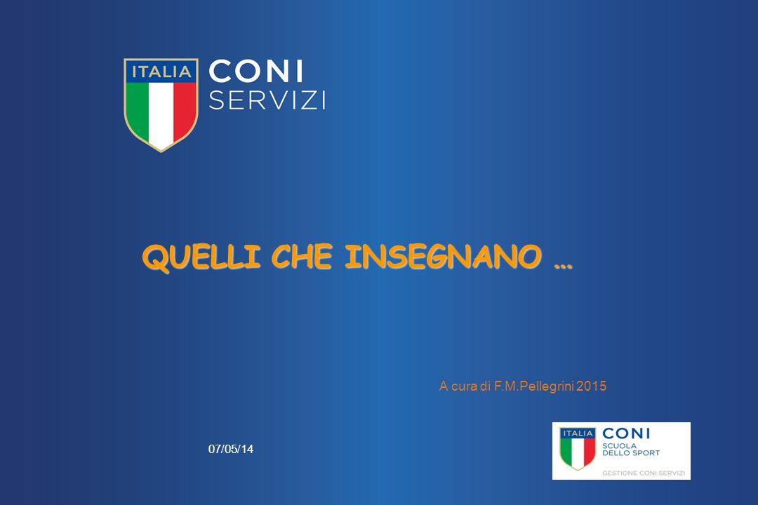 07/05/14 A cura di F.M.Pellegrini 2015 QUELLI CHE INSEGNANO …