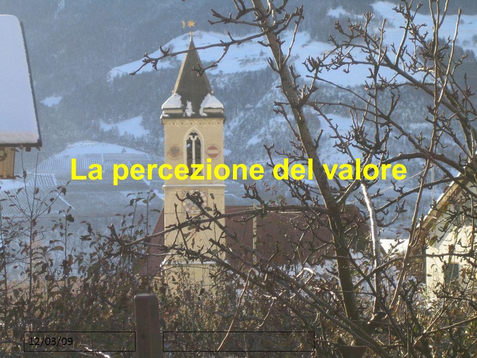 12/03/09 La percezione del valore