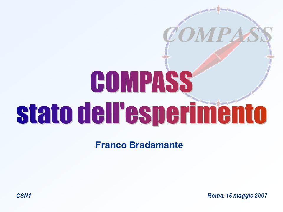 Franco Bradamante CSN1 Roma, 15 maggio 2007