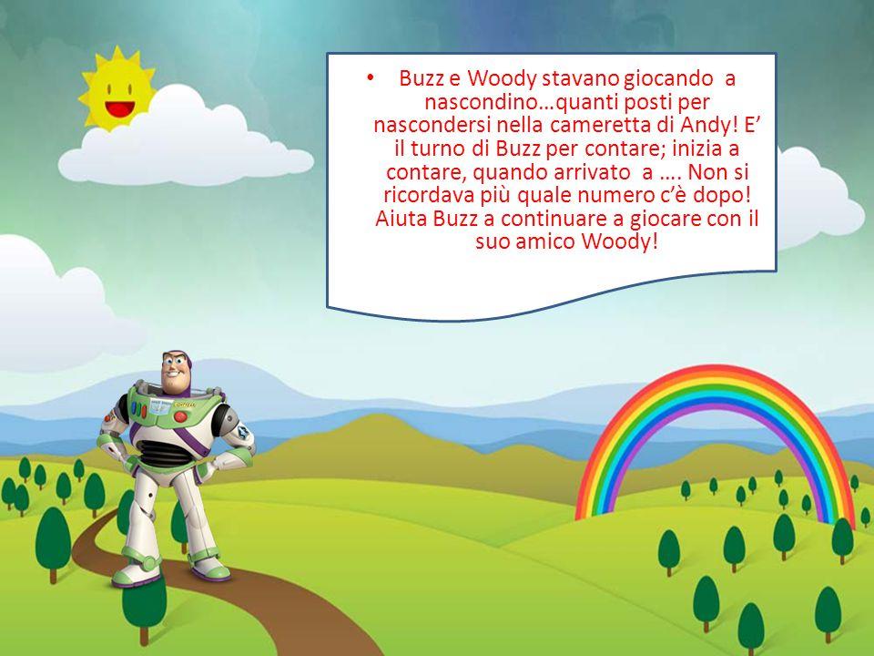 Buzz e Woody stavano giocando a nascondino…quanti posti per nascondersi nella cameretta di Andy.