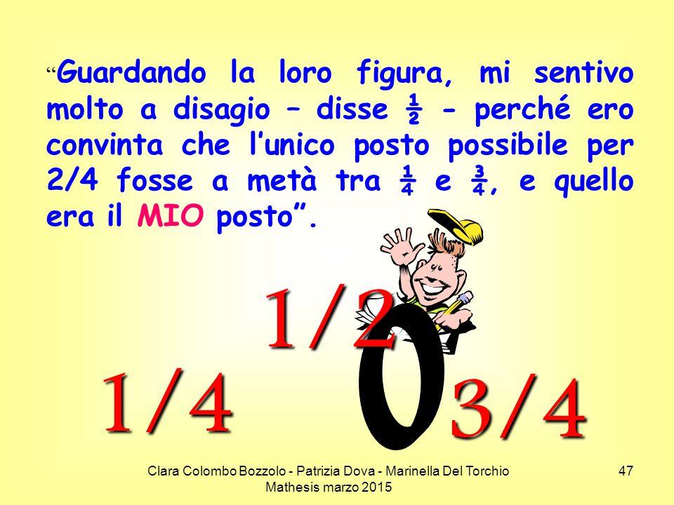 """Clara Colombo Bozzolo - Patrizia Dova - Marinella Del Torchio Mathesis marzo 2015 """" Guardando la loro figura, mi sentivo molto a disagio – disse ½ - p"""
