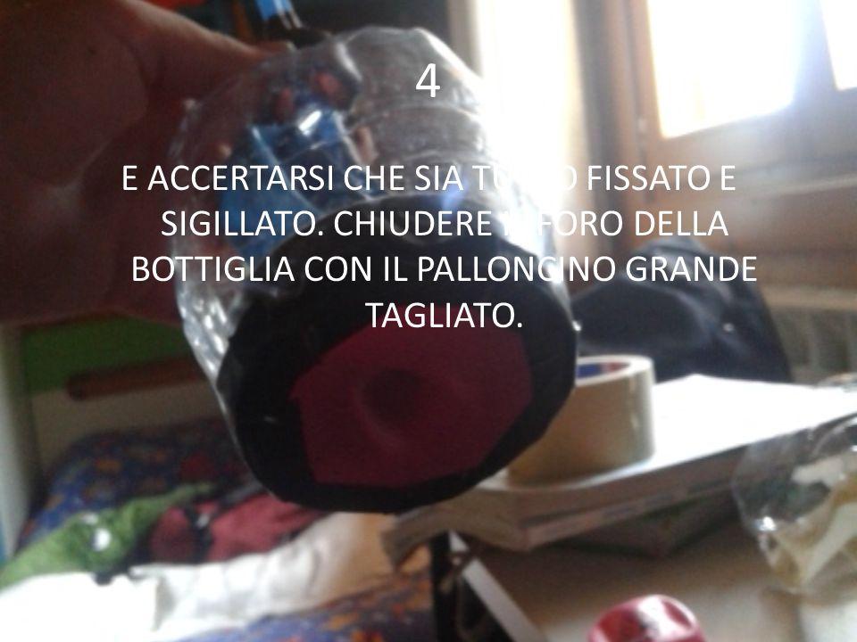 4 E ACCERTARSI CHE SIA TUTTO FISSATO E SIGILLATO.