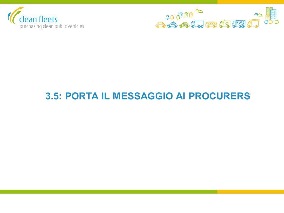 3.5: PORTA IL MESSAGGIO AI PROCURERS