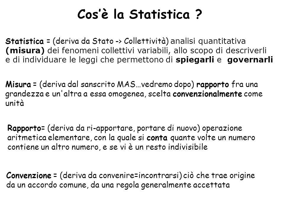 Cos'è la Statistica .