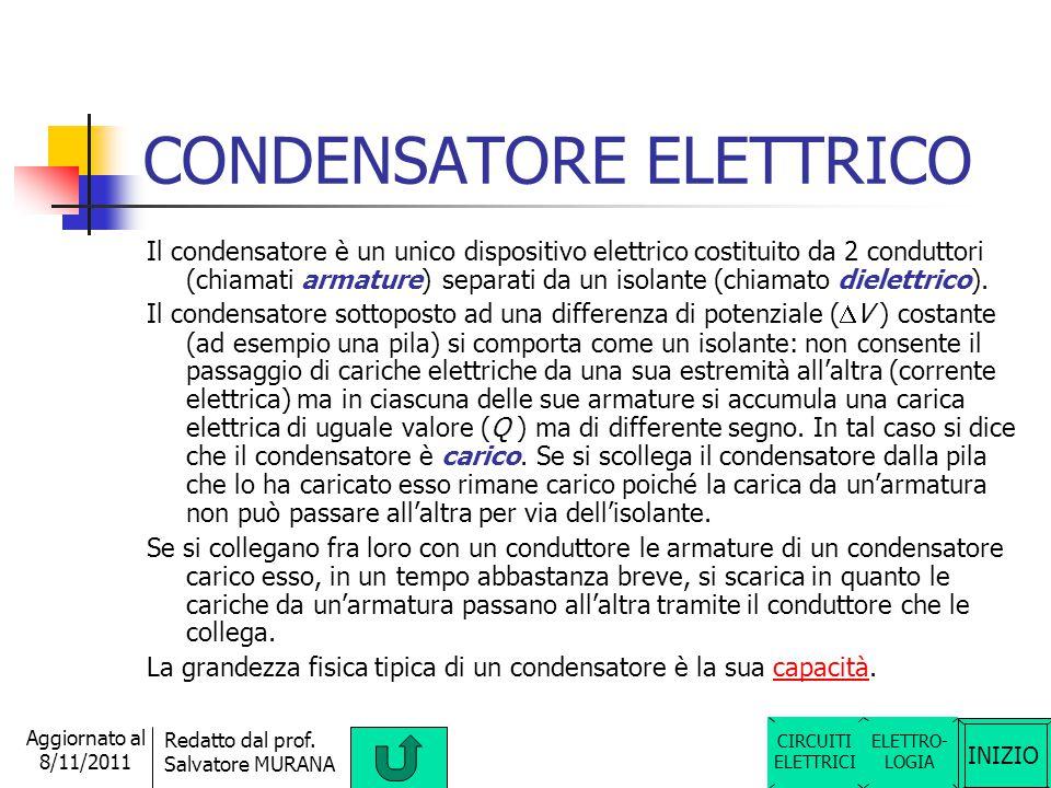 INIZIO Redatto dal prof. Salvatore MURANA Aggiornato al 8/11/2011 PILA La pila è un dispositivo in grado di mantenere costante la differenza di potenz