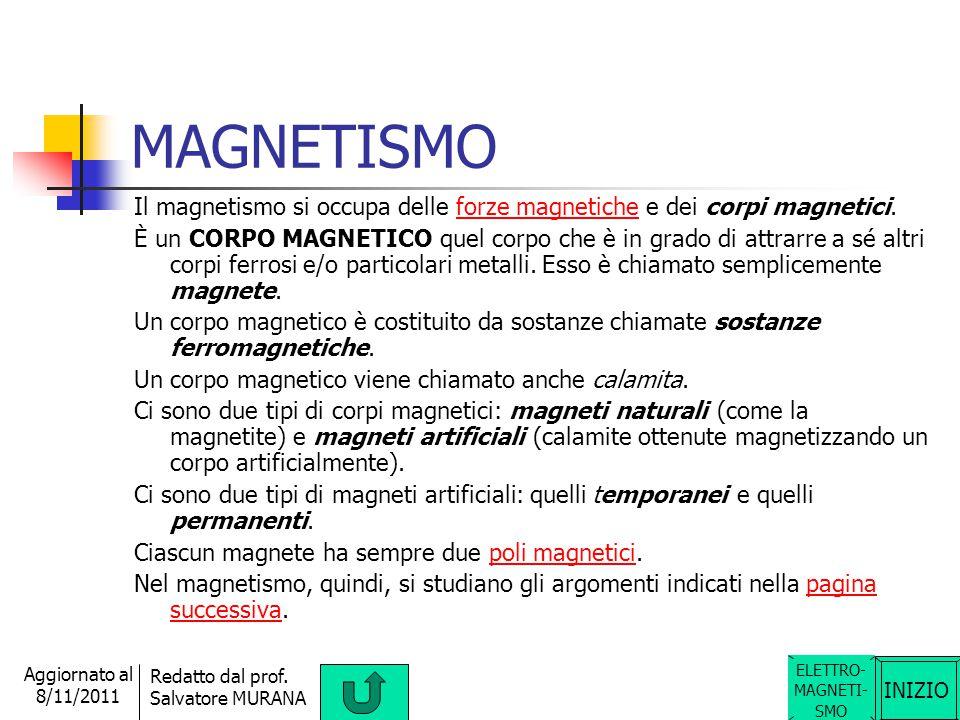 INIZIO Redatto dal prof. Salvatore MURANA Aggiornato al 8/11/2011 EFFETTO JOULE In un conduttore, l'energia elettrica persa (grazie agli urti tra le c
