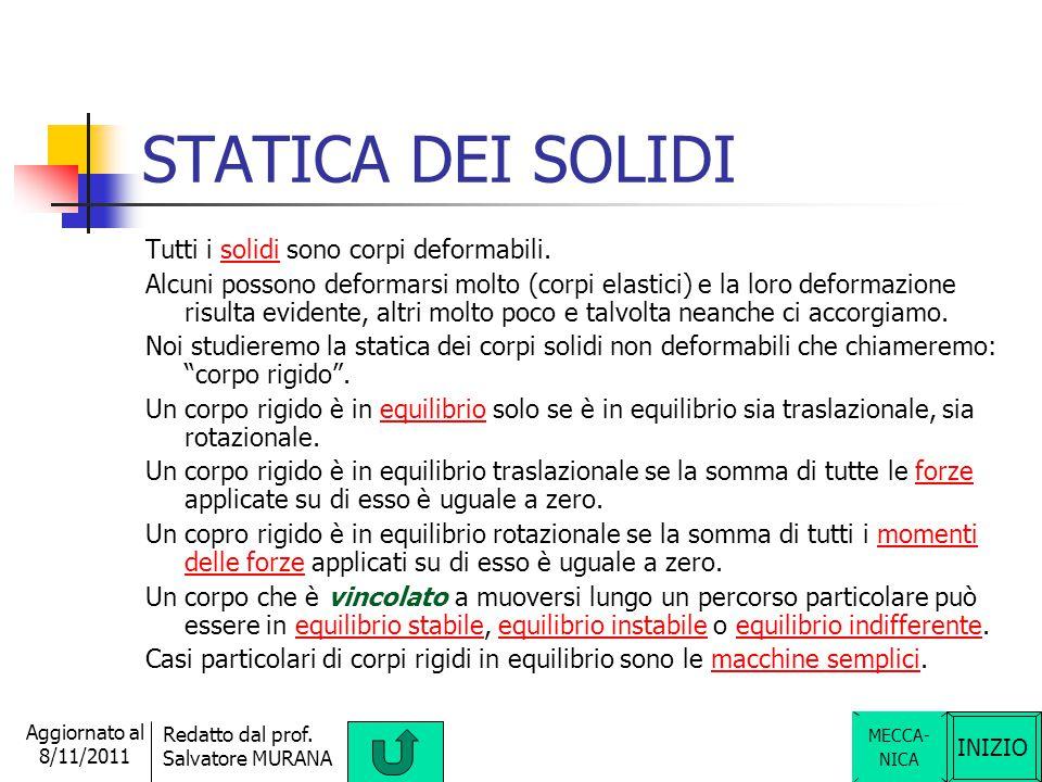 INIZIO Redatto dal prof. Salvatore MURANA Aggiornato al 8/11/2011 POTENZA La potenza è una grandezza fisica scalare derivata. Essa è la sveltezza con