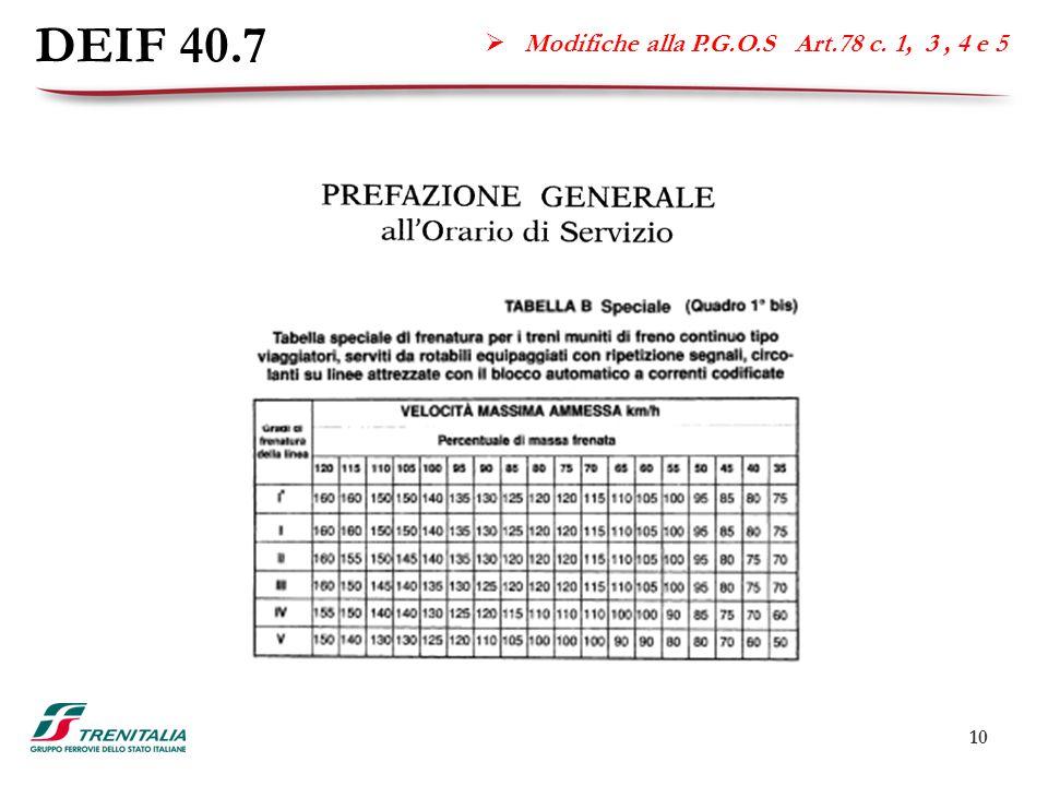 10 DEIF 40.7  Modifiche alla P.G.O.S Art.78 c. 1, 3, 4 e 5