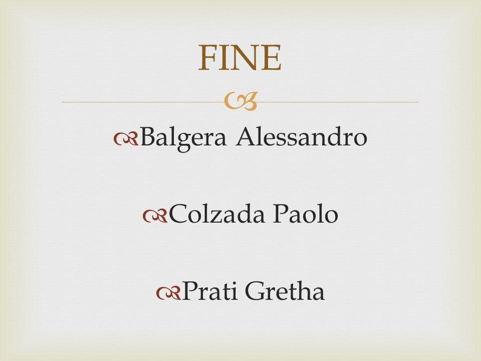  BBalgera Alessandro CColzada Paolo PPrati Gretha FINE