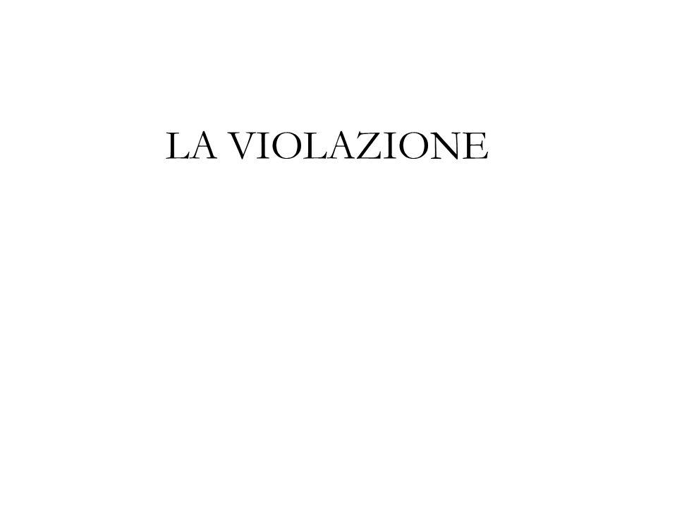 LA VIOLAZIONE