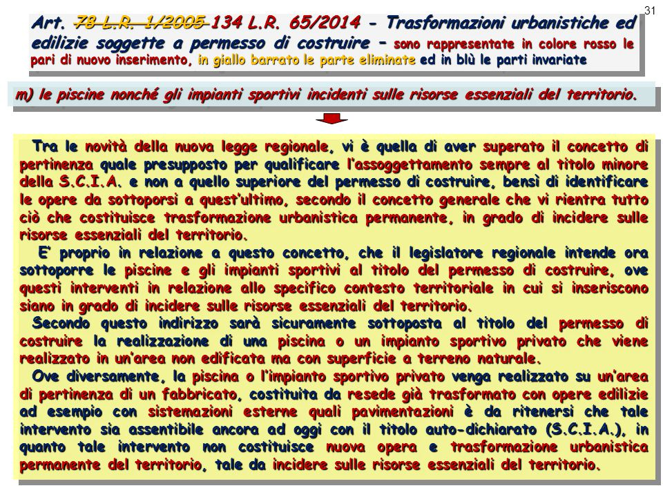 31 Art. 78 L.R. 1/2005 134 L.R.