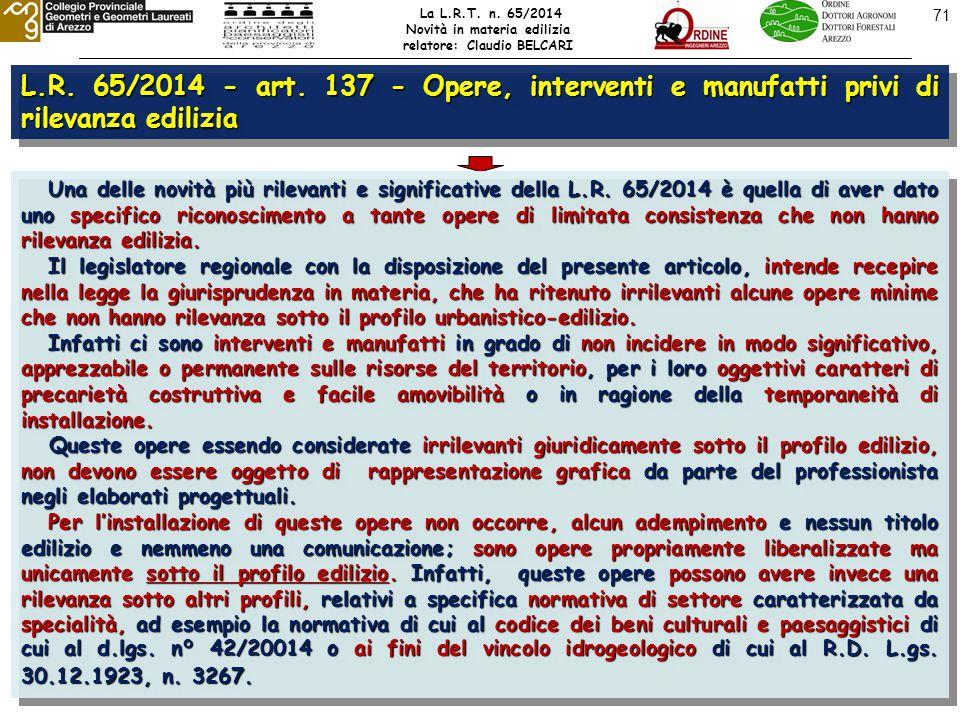 71 L.R. 65/2014 - art.