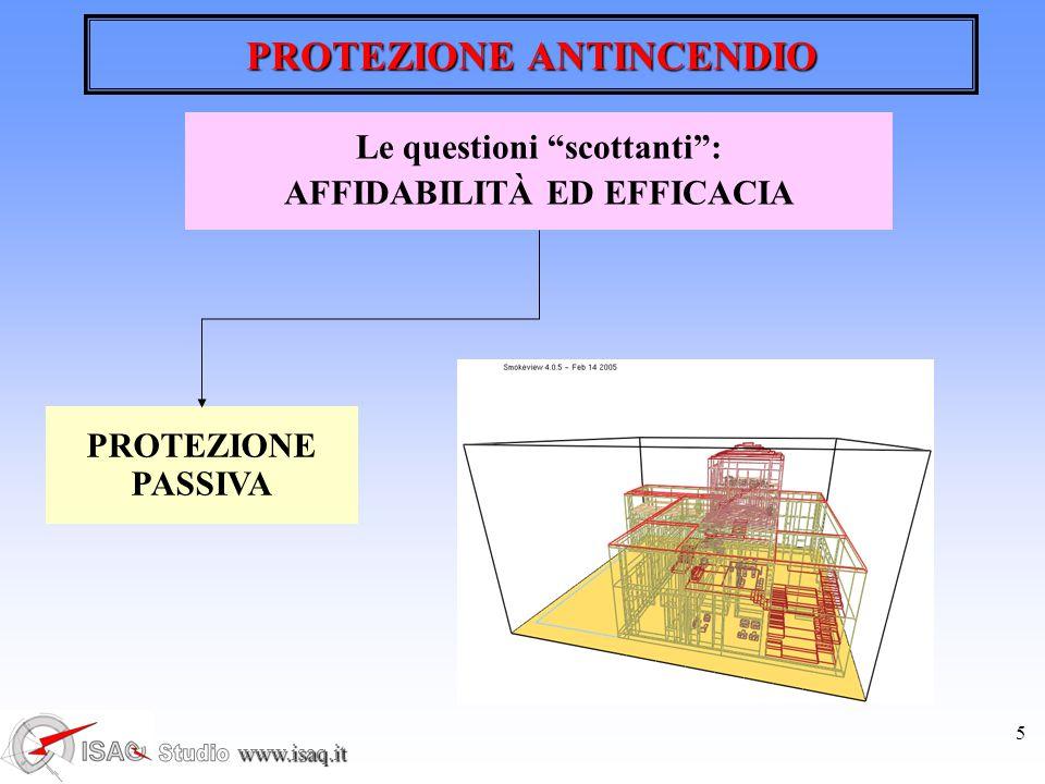 www.isaq.it 5 PROTEZIONE ANTINCENDIO PROTEZIONE PASSIVA Le questioni scottanti : AFFIDABILITÀ ED EFFICACIA