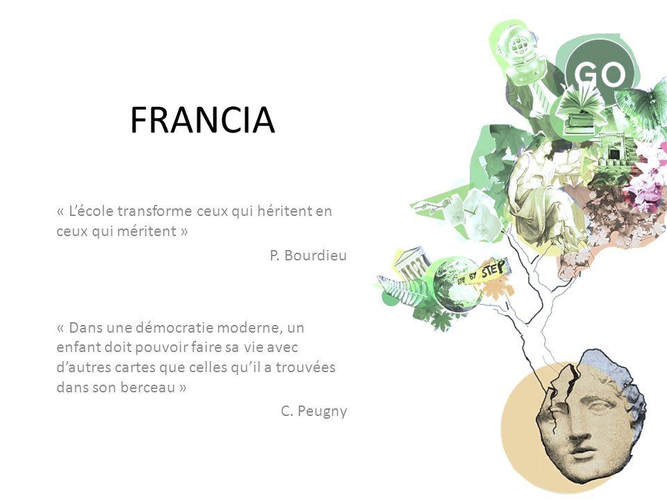 FRANCIA « L'école transforme ceux qui héritent en ceux qui méritent » P.