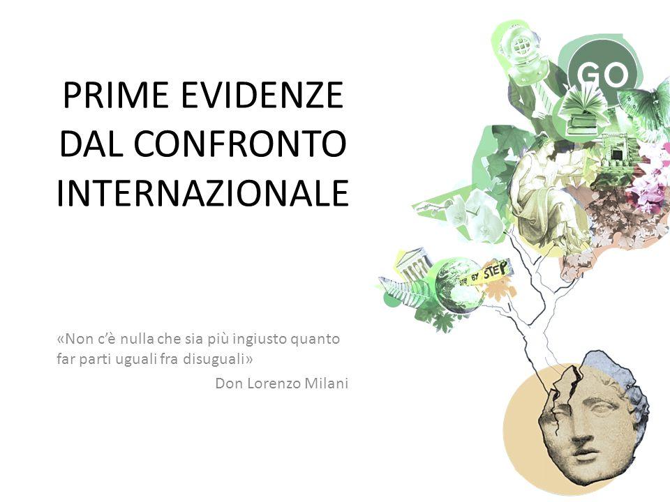 PRIME EVIDENZE DAL CONFRONTO INTERNAZIONALE «Non c'è nulla che sia più ingiusto quanto far parti uguali fra disuguali» Don Lorenzo Milani