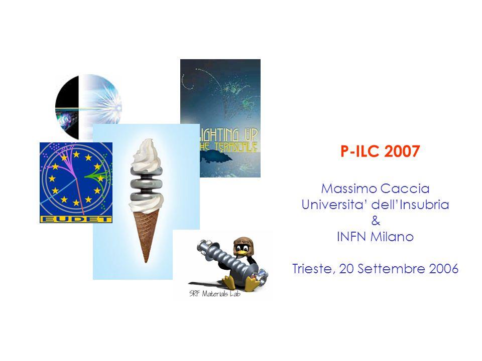 P-ILC 2007 Massimo Caccia Universita' dell'Insubria & INFN Milano Trieste, 20 Settembre 2006